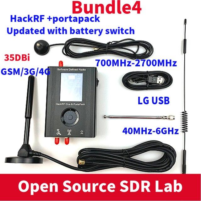Portapack大混乱とファームウェアフラッシュ + hackrf 1 1に6 2.4ghz sdrソフトウェアデ + 1000 3000mahのバッテリー + 2.4タッチ液晶デモボード
