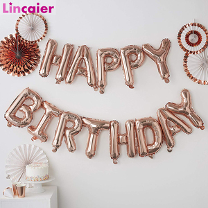 Image 1 - Lincaier 16 inch Happy Birthday Foil Balloons Baby Boy Girl First Birthday 1st One Party Decoration Garland Kids Adult