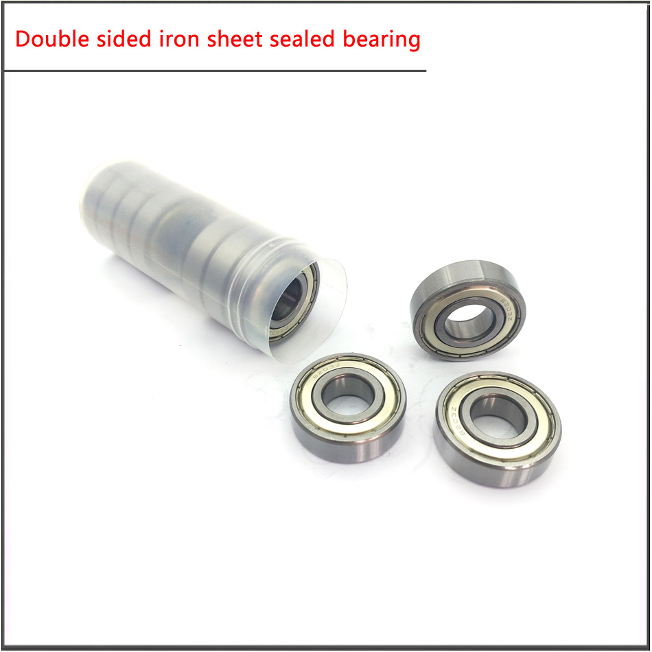 10Pcs/set 6200 6201 6202 6203 6204 6205ZZ High Speed Double Sided Iron Sheet Seal For Main Bearing Of Motor