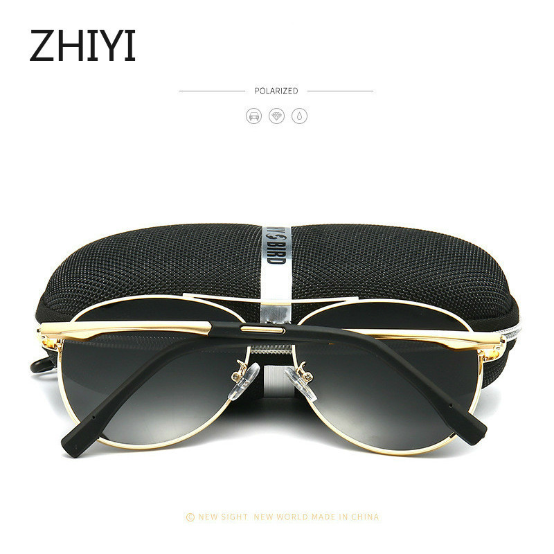 cheapest ZHIYI Brand Aluminum Polarized Yellow Night Driving Glasses Men Women HD Lens Anti-glaring Driver s Car Glasses Retro Sunglasses