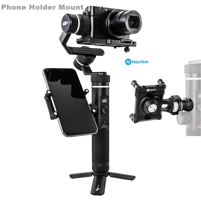 Feiyu Phone Holder Mount Adapter for SPG2 G6 G6 Plus Bracket Clip Clamp Holder for Action Camera Gimbal iPhone X 8 7 Samsung