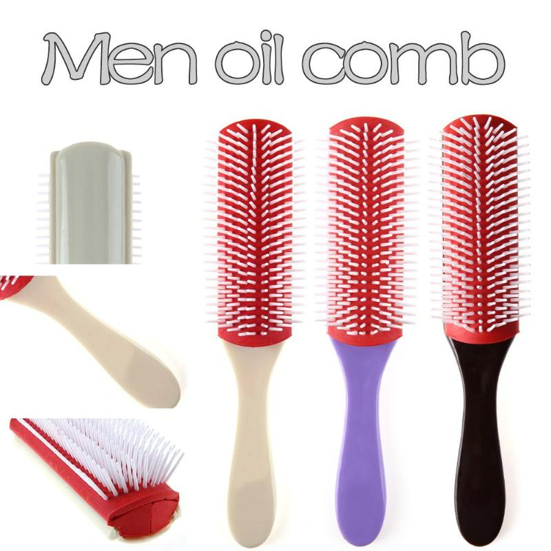 Hot Anti-static 9 Rows Hair Brush Men Oil Comb Hairbrush Hairdressing Scalp Massager Hair Comb Styling Tools