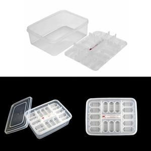 Plastikowe gady inkubator jaj taca jaszczurka wąż jaja Hatcher Box z termometrem gad pudełko na jaja inkubator gadów