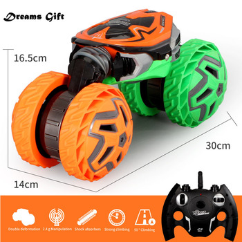 Large RC Cars 4WD Racing Drift Remote Control Twist Wheel Truck Crawlers Deformation Stunt Car Model Electronic Toy For Kids