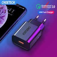 CHOETECH chargeur rapide 3.0 18W USB pour Xiaomi Redmi 6 7A Note 7 8 Pro chargeur mural rapide ue/US QC3.0 adaptateur chargeur de téléphone