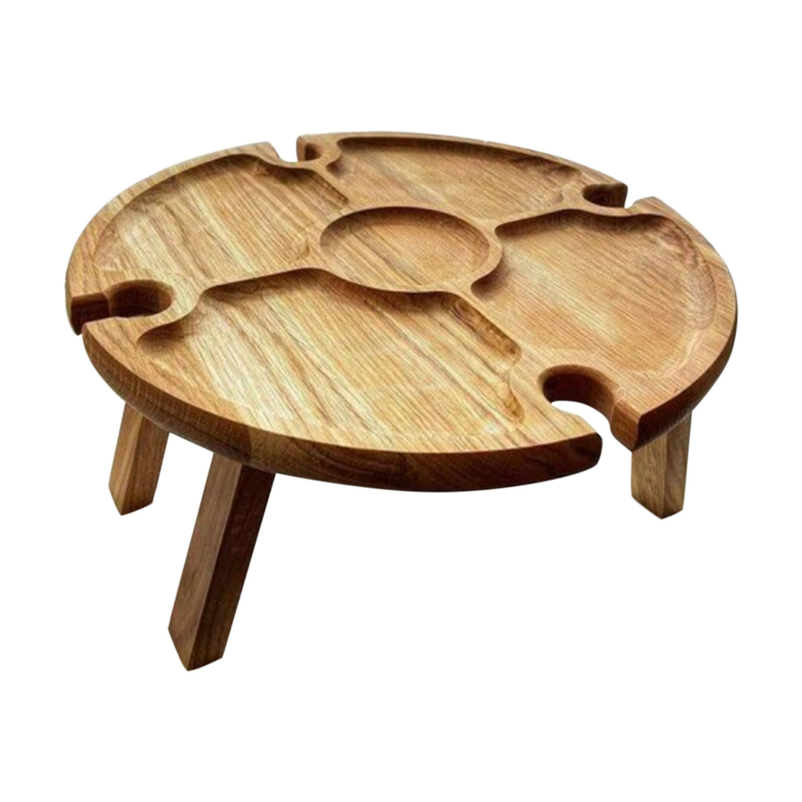 Outdoor Portable Solid Wood Wooden Picnic Wine Table With Retractable Legs Picnic wine table with retractable legs wooden table