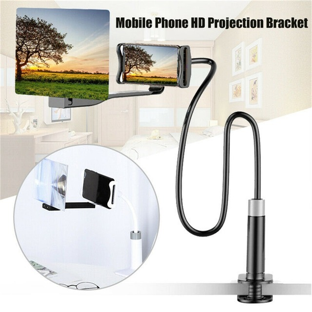 Mobile Phone High Definition Projection Bracket Adjustable Flexible All Angles Phone Tablet Holder 3D HD Screen Magnifier 4