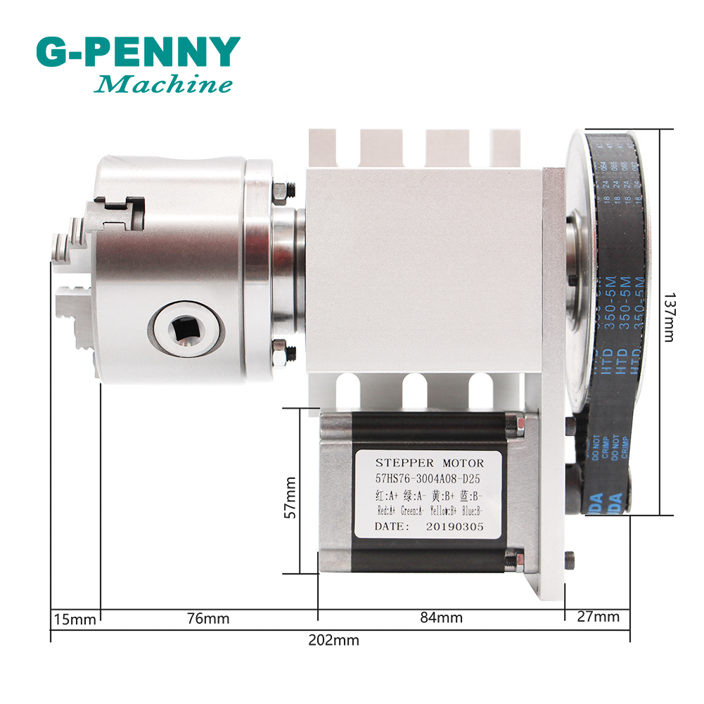 3 Jaw 80mm chunk 4th Axis A axis Ratory Axis with nema23 motor  Tailstock dividing head Rotation 6:1  for  CNC router engraving