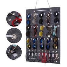 Wall Hanging Sunglasses Organizer Display Door Storage Pocket by Glasses 15/25 Slots Felt Decoration