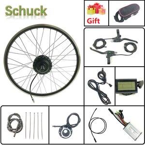 Image 1 - Комплект для электровелосипеда Schuck, переднее моторное колесо 24 в 250 Вт с дисплеем Kunteng KT LCD3 16 28 дюймов 700C, комплект для электровелосипеда