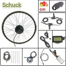 Schuck Kit de conversión de bicicleta eléctrica rueda de Motor delantero, 24V, 250W, con pantalla Kunteng KT LCD3 de 16 28 pulgadas, 700C