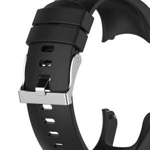 Image 5 - حزام ساعة سيليكون حزام (استيك) ساعة استبدال ل Suunto المتقشف المدرب المعصم HR