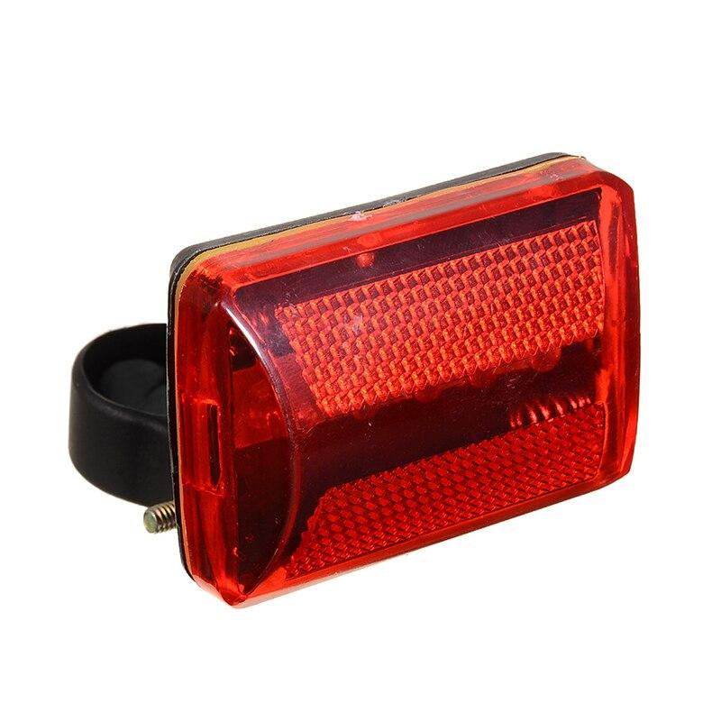 Задний фонарь для велосипеда, красный задний фонарь для велосипеда, 5 светодиодов, предупреждающий о вспышке, АА, на батарейках, велосипедны...