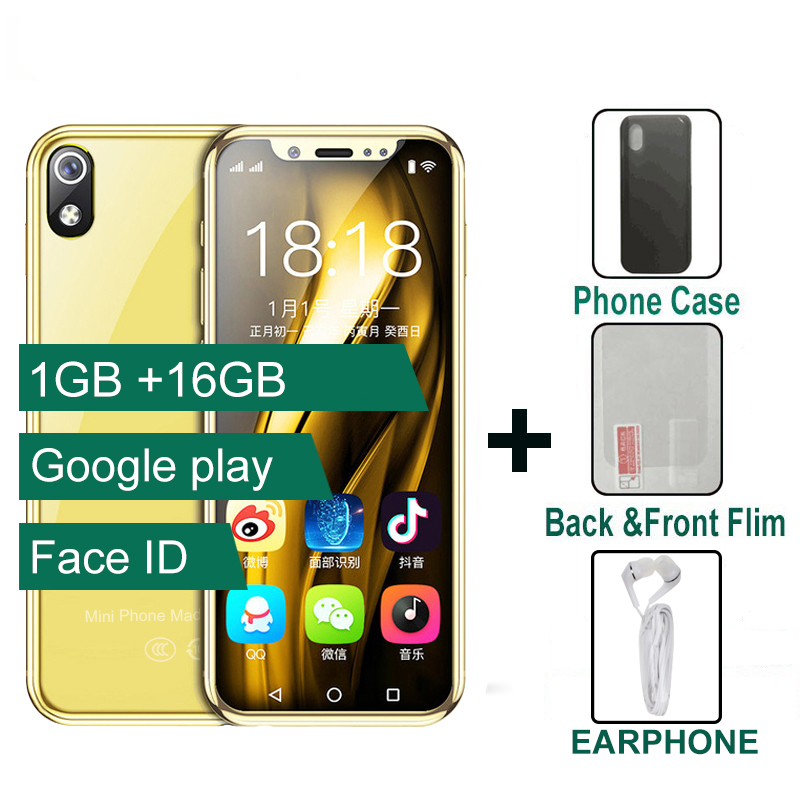 """3.5"""" Small Display Mini Smart Phone 4G Android 6.0 2000mah Battery Face Recognition 3G+64G Dual Sim Support Flash Card Quad Core"""