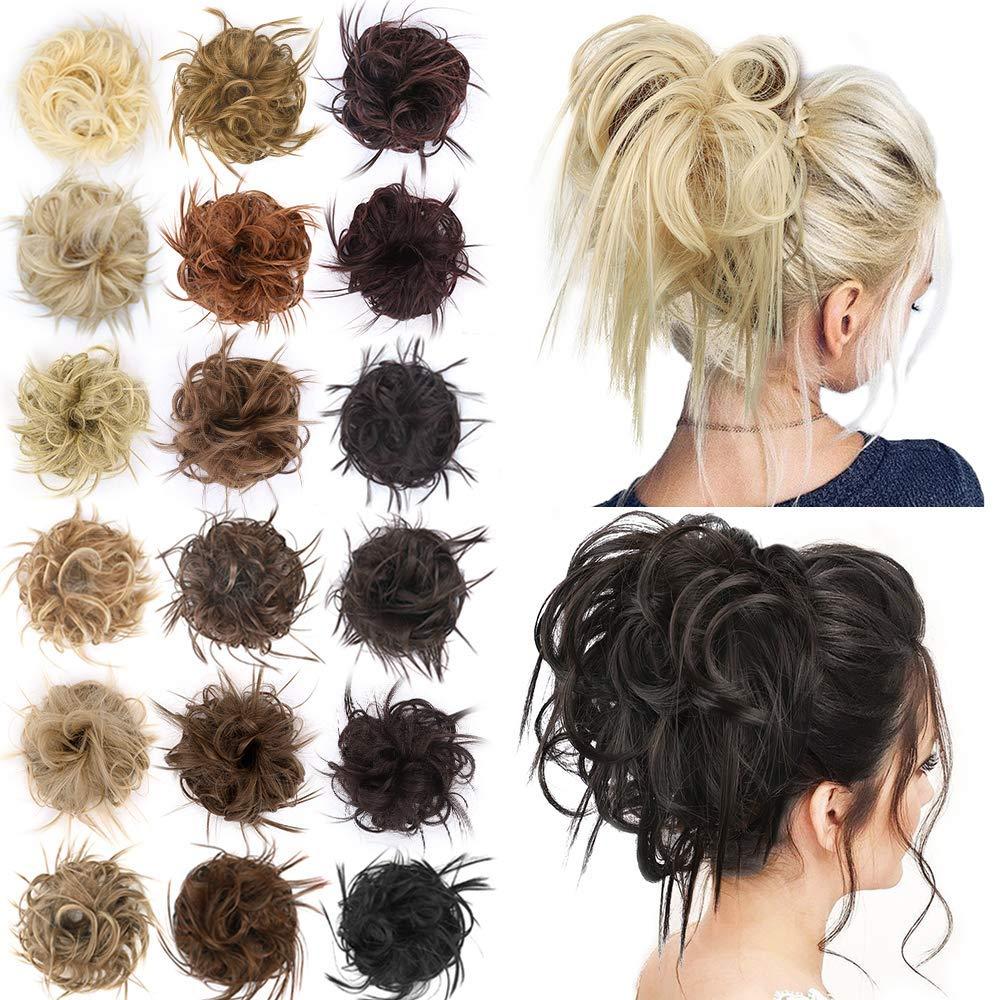 Kong & Li эластичные накладные волосы, лента для волос, резинка для хвоста, шиньоны, Пончик, грязная булочка для невесты, Женские синтетические волосы, шиньоны|Синтетический шиньон|   | АлиЭкспресс