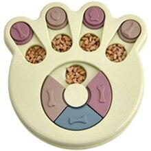 Развивающие игрушки для собак миска для собак Диспенсер для еды для щенков пластиковая кормушка Забавный питомец для щенков обучающая игрушка для собак IQ