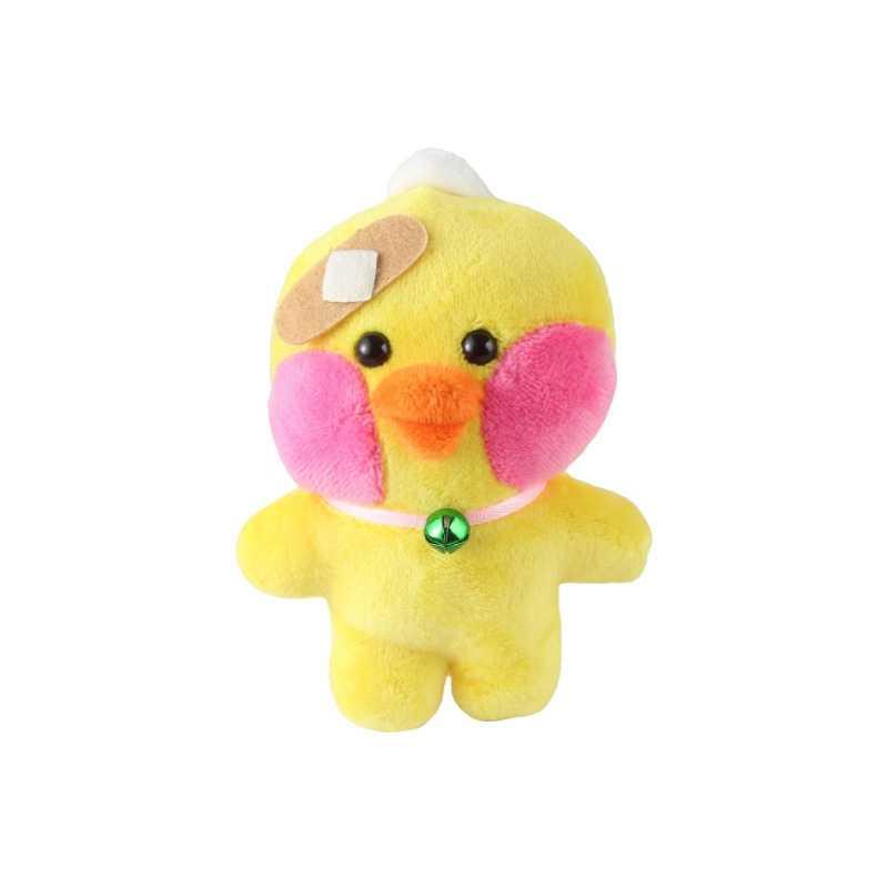 Kawaii Pingente de Pelúcia Brinquedos de Pelúcia Macia Brinquedos Do Bebê Presentes de Aniversário Criança Decoração Chaveiro Boneca Peluche Recheio Animal Patos Amarelos