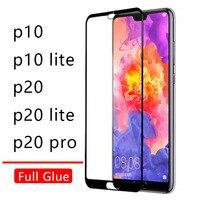 Fall Auf Für Huawei P20 Lite Pro P10 Abdeckung Volle Kleber Gehärtetem Glas Ehre P 10 20 P10lite P20lite Licht telefon Screen Protector 9h
