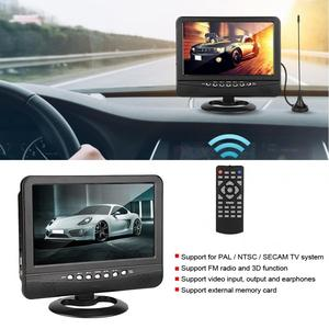 7.5inch Wide Viewing Angle Car Portable TV Analog Mobile TV DVD Television Player Remote Controller EU100-240V