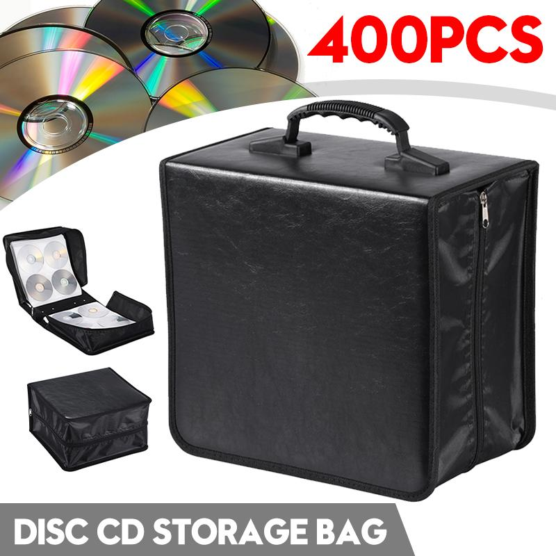 Faithful Cd Case Dvd Storage Bag Cd Holder Portable Large Capacity Pu Leather Cd Bag For 400 Disc Dvd Organizer Carry Case Bringing More Convenience To The People In Their Daily Life