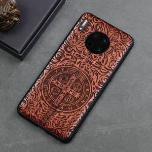 Image 3 - 2019 nowy dla Huawei Mate 30 Pro etui Slim drewno tylna pokrywa obudowa zderzaka TPU na Huawei Mate30 Mate 30 etui na telefon Pro