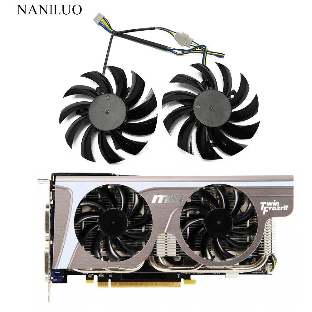 2PCS Gigabyte 8010 graphics card dual fan PLD08010S12H 12V 0.25A