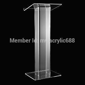 Free Shipping Popularity Beautiful Modern Design Cheap Clear Acrylic Lectern Plexiglass