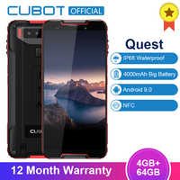 "Cubot Quest Sports Phone Android 9.0 5.5"" IP68 Waterproof MT6762 Octa-Core 4GB 64GB 4000mAh 6P Lens Dual Camera NFC Smartphone"