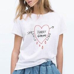 Женская футболка с короткими рукавами Harry Styles, Корейская футболка с круглым вырезом, Повседневная футболка для отдыха