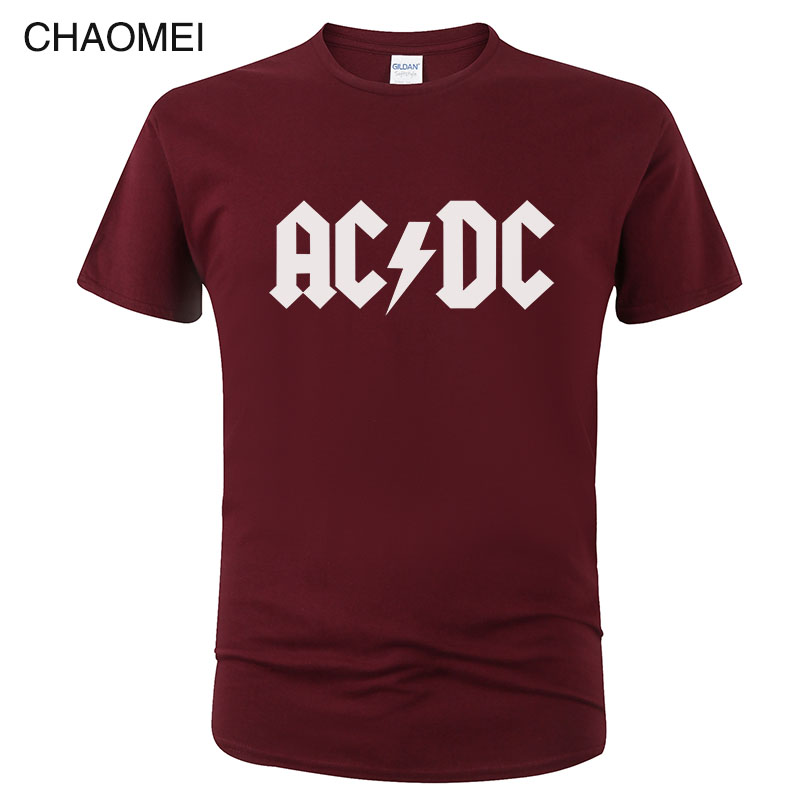 2019 Camisetas AC DC Heavy Metal Rock Band T Shirt Men Acdc T-Shirts Print Casual Tshirt Hip Hop Short Sleeve Cotton Top C106