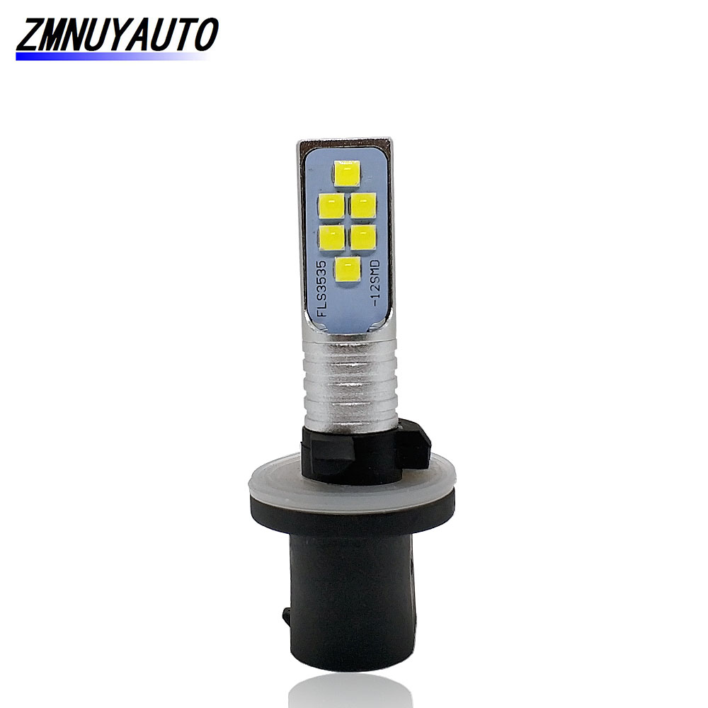 880 889 H27W LED Bulb Car Fog Lights Lamp 12SMD 3535 H27 H27W/1 Auto DRL Day Running Lights 6000K White 12V