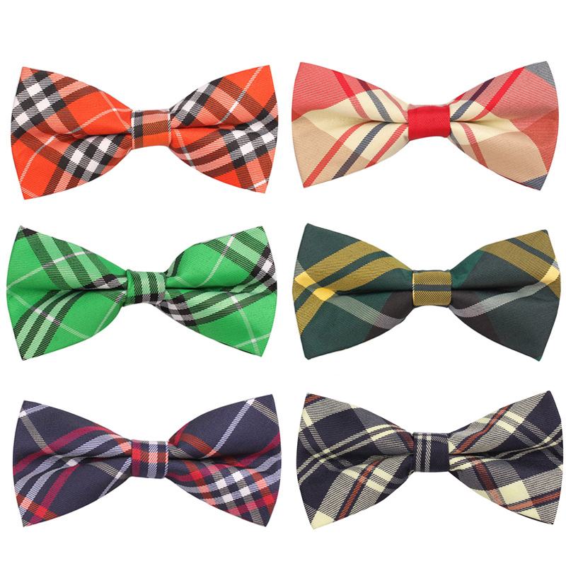 Newest Men Classic Plaid Bow Ties Neckwear Adjustable Mens Tuxedo Bow Tie Polyester For Wedding 19colors Free Shipping