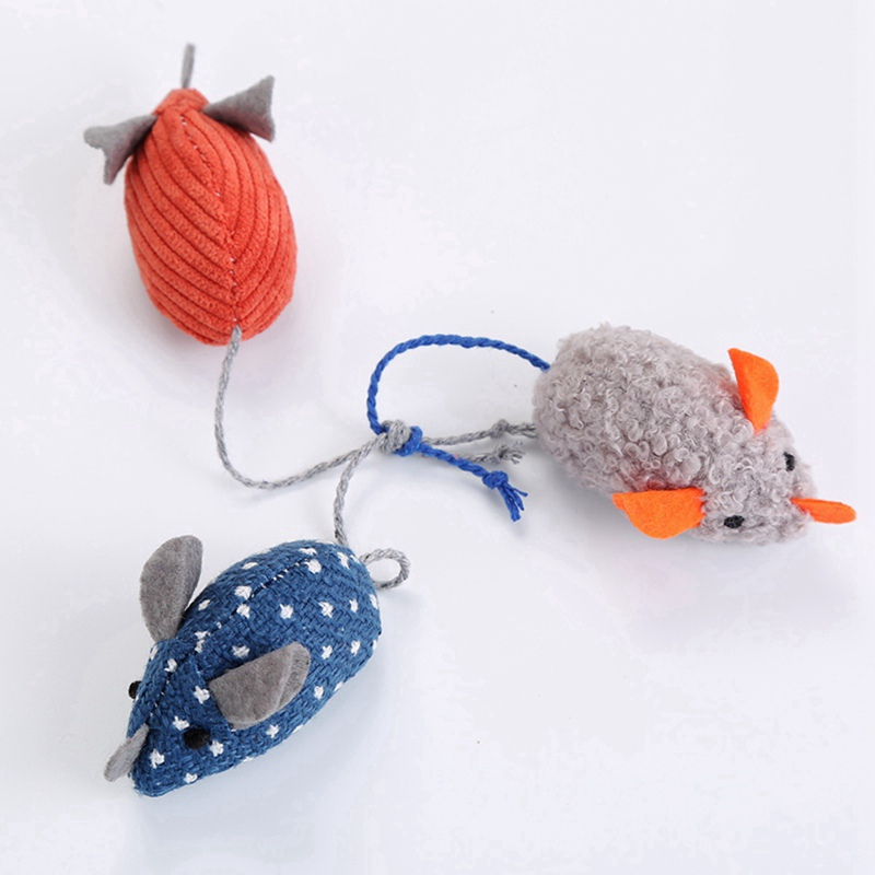 Simulation Plush Mouse Toy With Tail For Cats Pet Interactive Toy Teaser Kitten Supplies Puppy Playing Exercise Supplies Pet Toy 5