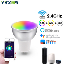 3pcs Smart tuya WIFI LED Bulb MR16 GU10 GU5.3 RGBCW LED Lamp Support Amazon ECHO/Google Home/IFTTT Remote Voice Control Smart