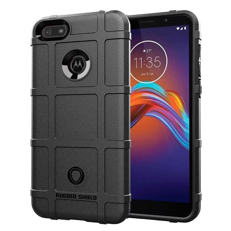 Прочная защита подушки безопасности Чехол для Motorola Moto E6 Play чехол матовый Мягкий Силиконовый ТПУ задняя крышка для Motorola Moto E6 Play чехол