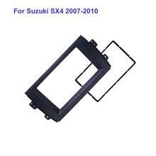 Франшиза автомобиля стерео радио панель накладка комплект черный автомобиль DVD gps панель для Suzuki SX4 2007-2010 2Din Радио Стерео рамка