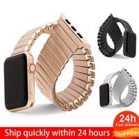 Correa elástica para Apple Watch, accesorios para Apple Watch 5, 40mm, 44mm, 42mm, 38mm, Serie 6, 4, 3, correa de expansión