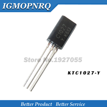 10pcs/lot KTC1027 C1027-Y C1027 TO-92L NPN transistor new - sale item Active Components