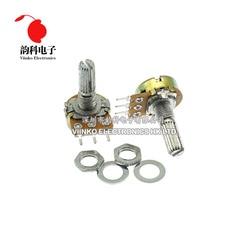 5 uds. De eje amplificador Dual, WH148 B1K B2K B5K B10K B20K B50K B100K B500K 3Pin 20mm, potenciómetro para estéreo 1K 2K 5K 10K 50K 100K 500K