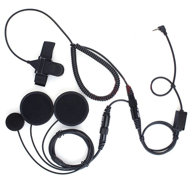 2.5mm 1 Pinos Completa rosto Perto do Capacete Da Motocicleta Fone De Ouvido PTT para o Rádio Motorola T6200 T6210 T6250 T6300 T6312 T6320 T6400 T6500