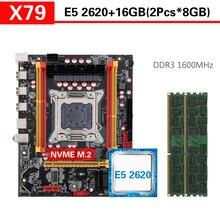 Kllisre X79 האם סט עם Xeon LGA 2011 E5 2620 2 × 8GB = 16GB 1600MHz DDR3 ECC REG זיכרון