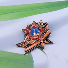 Ordem soviética de vitória emblema cccp urss prêmio medalha réplica estrela vermelha pino masculino patriot presente