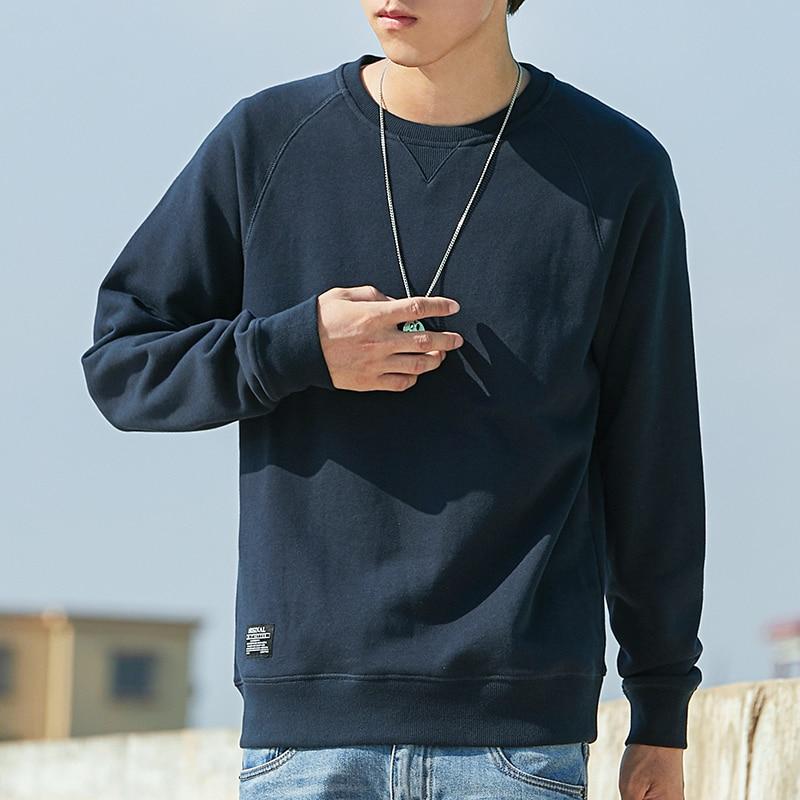 Men's Hoodies fashion design Casual male pullover mens crewneck Long Sleeve Round Neck sweatshirt