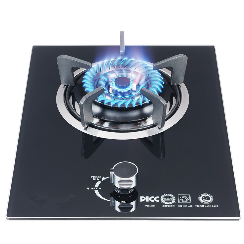 Free Shipping Embedded Natural Gas Stove Liquefied Gas Stove Tempered Glass Single Stove Domestic Desktop Energy Saving
