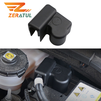 Car Non-flammable Plastic Negative Power Batteries Cover For Honda Civic 2016 2017 2018 2019 2020 Battery Protection Covers image