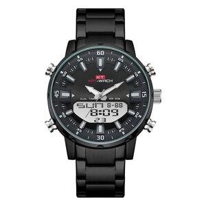 Kt topo relógios masculinos 2020 marca de luxo whatch relógio masculino presente esporte aço inoxidável cronógrafo à prova dwaterproof água preto klok kt1815