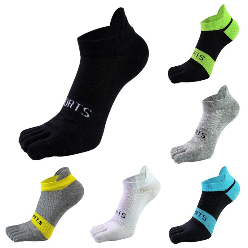 Pure Cotton Toe Socks Men Mesh Breathable Five Finger Sock Casual Ankle Socks Male Five Toe Sock New