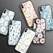 Tempered Glass Case for iPhone XR X XS Max 11 Pro Max Flower Shockproof Case for iPhone 6 6S 7 8 Plus 5 5S SE Color Back Cover new iphone case for iphone 11 for iphone11 pro max 5 8 inches 6 1 inches 6 8 inches 6 6s 7 8 plus ix xr max x fashion back cover