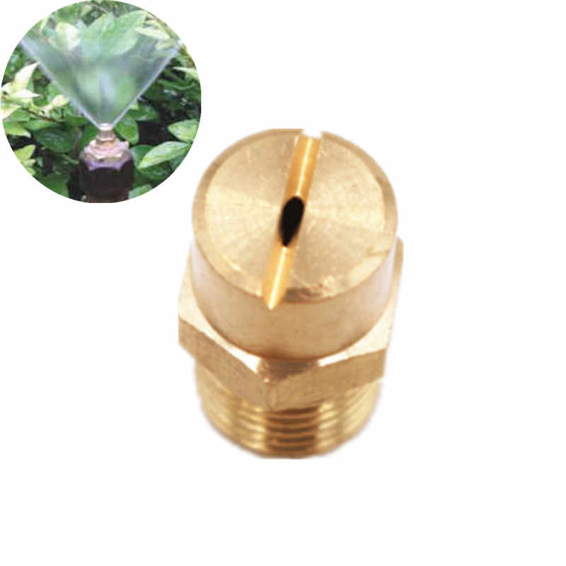 "Fast Shipping 1PC 1/4"" Misting Sprinkler Slot Type Nozzle Brass Male Thread For Garden Lawn Irrigation Watering Fittings"