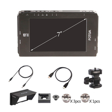 "FOTGA DP500IIIS A70 A70T A70TL A70TLS 7 ""ekran dotykowy FHD wideo w aparacie Monitor zewnętrzny 1920x1080 HDMI SDI / 4K dla DSLR kina"